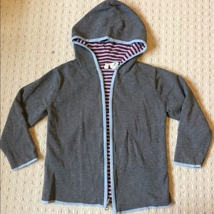 Hanna Andersson hooded cardigan sweater